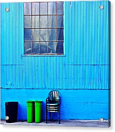 Bins And Chairs Acrylic Print