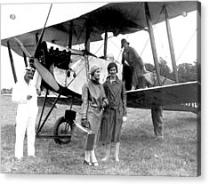 Biplane Passenger Service Acrylic Print by Underwood Archives