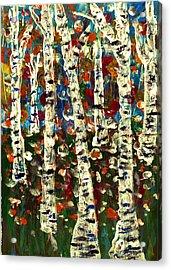 Birch Acrylic Print by Branko Jovanovic
