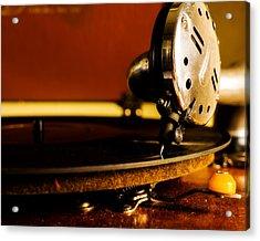 Birch Brothers Portable Phonograph Acrylic Print