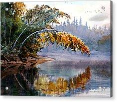 Birch Creek Beauty Acrylic Print by Vladimir Zhikhartsev
