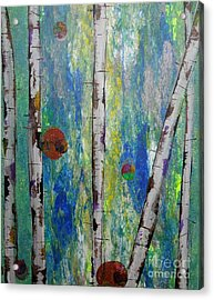Birch - Lt. Green 4 Acrylic Print