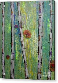 Birch - Lt. Green 5 Acrylic Print