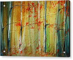 Birch Tree Forest I Acrylic Print by Jani Freimann