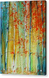 Birch Tree Forest Acrylic Print