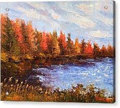 Birchwood Lake Acrylic Print