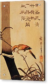 Bird And Bamboo Acrylic Print by Ando or Utagawa Hiroshige