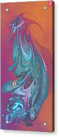 Acrylic Print featuring the painting Bird Dance by Mike Breau