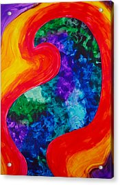 Acrylic Print featuring the painting Bird Form I by Michele Myers