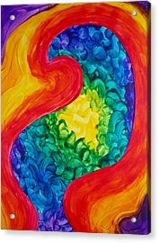 Acrylic Print featuring the painting Bird Form II by Michele Myers