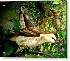 Acrylic Print featuring the painting Bird From Bali  by Jason Sentuf