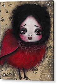 Bird Girl #1 Acrylic Print by  Abril Andrade Griffith
