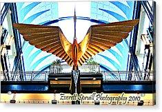 Bird In The Building Acrylic Print