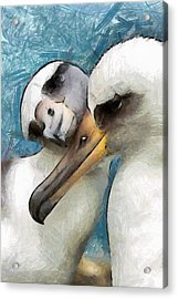 Acrylic Print featuring the painting Bird Love by Georgi Dimitrov