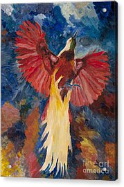 Bird Of Paradise Resurrection Acrylic Print