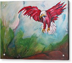 Bird Of Prey Acrylic Print by Paul Kilyanek