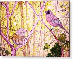 Bird Pair Acrylic Print by Linda Vaughon