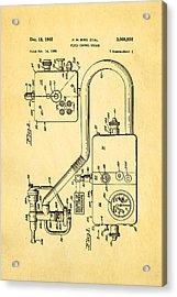 Bird Respirator Patent Art 1962 Acrylic Print by Ian Monk