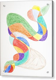 Acrylic Print featuring the painting Bird Snake by Stormm Bradshaw