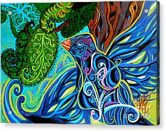 Bird Song Acrylic Print by Genevieve Esson