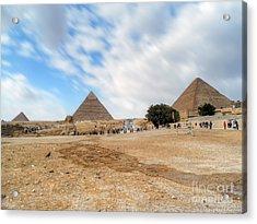 Bird Sphinx And Pyramids Acrylic Print