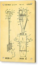 Bird Trap Cat Feeder Patent Art 1979 Acrylic Print by Ian Monk