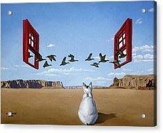 Bird Watcher Acrylic Print by Michael Bridges
