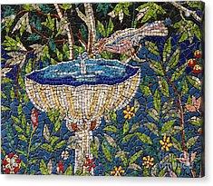Birdbath Mosaic Acrylic Print