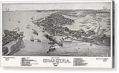 Bird's Eye View Of Cedar-key Florida Acrylic Print