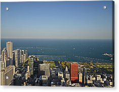 Bird's Eye View Of Chicago's Lakefront Acrylic Print by Christine Till