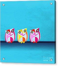 Birds In Blue  Acrylic Print by Mark Ashkenazi