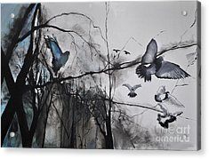 Acrylic Print featuring the photograph Birds by Maja Sokolowska