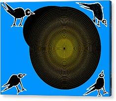 Birds New World Acrylic Print by Anand Swaroop Manchiraju