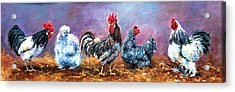 Birds Of A Feather Acrylic Print by Jacinta Crowley-Long
