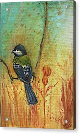 Birds Of A Feather Series3 In Autumn Acrylic Print by Remy Francis
