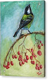 Birds Of A Feather Series4 Acrylic Print by Remy Francis