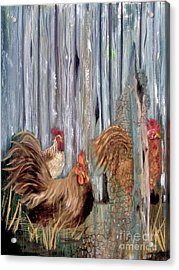 Birds Of A Feather Acrylic Print by Sharon Burger