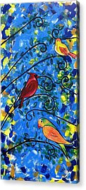 Birds Of Color Acrylic Print