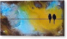 Birds On A Wire Lovebirds Acrylic Print