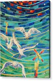 Birds On The Bay Acrylic Print by Zofia  Kijak
