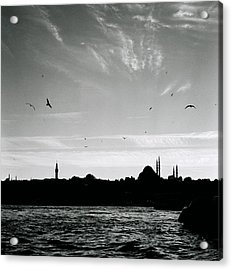 Birds Over The Golden Horn Acrylic Print