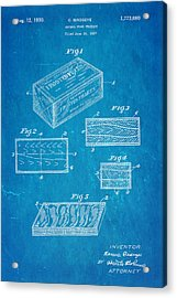 Birdseye Frozen Food Patent Art 1930 Blueprint Acrylic Print