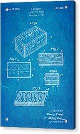 Birdseye Frozen Food Patent Art 1930 Blueprint Acrylic Print by Ian Monk