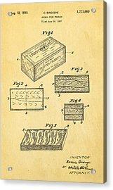 Birdseye Frozen Food Patent Art 1930 Acrylic Print by Ian Monk