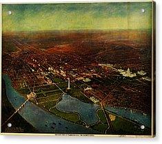 Birdseye View Of Washington 1916 Acrylic Print by Celestial Images
