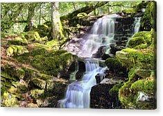 Birks Of Aberfeldy Cascading Waterfall - Scotland Acrylic Print