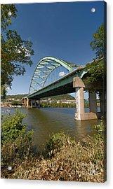 Birmingham Bridge Pittsburgh South Side Acrylic Print by Amy Cicconi