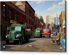 Birmingham Fruit And Veg Market. Acrylic Print by Mike  Jeffries