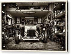 Birth Of A Roadster Acrylic Print by Robert  FERD Frank