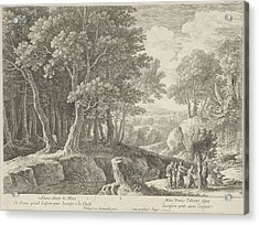 Birth Of Adonis, Herman Van Swanevelt, Lodewijk Xiv King Acrylic Print by Herman Van Swanevelt